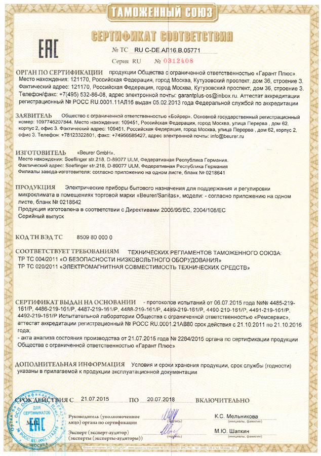 сертификат на плетенку